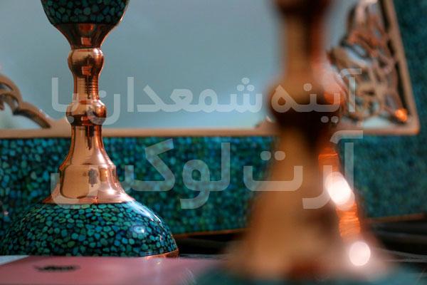 آینه شمعدان فیروزه کوب قیمت