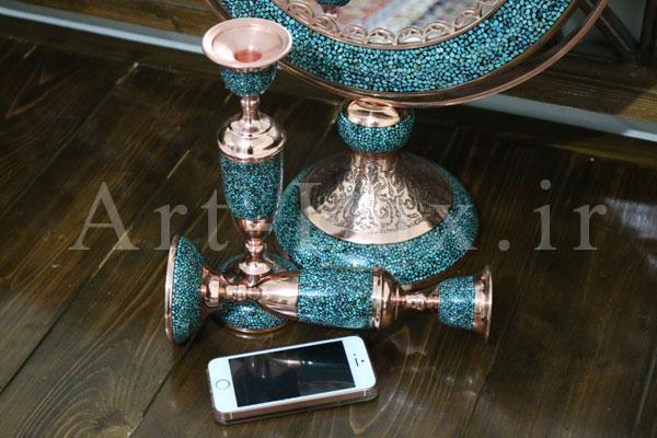 اینه و شمعدان سنتی اصفهان