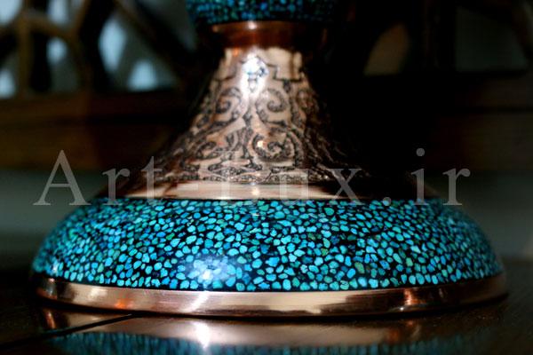 فروش آینه و شمعدان فیروزه کوبی
